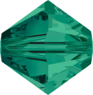 Swarovski Beads 5328 6mm XILION Bicone Emerald