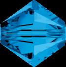 Swarovski Beads 5328 6mm XILION Bicone Capri Blue