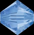 Swarovski Beads 5328 8mm XILION Bicone Light Sapphire
