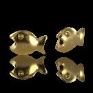 bedeltje 15mm goud visje metaal