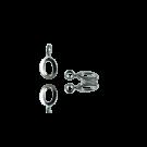 bedels hanger 11mm zilver cijfer 0