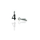 bedels hanger 11mm zilver cijfer 4