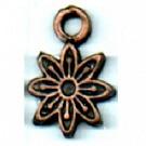 bedels 13mm brons bloem tin