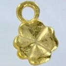 bedels 13mm goud klavertje tin
