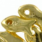 bedels 14mm goud dier metaal