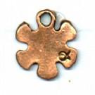 bedels 12mm brons bloem tin