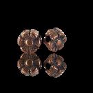 kralen 5mm brons bloem metaal