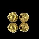 kralen 5mm goud bloem metaal