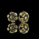 kralen 5mm oudgoud bloem metaal