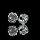 kralen 5mm oudzilver bloem metaal