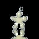 hangers 22mm wit bloem metaal