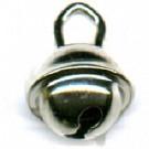belletjes 10mm zilver rond metaal