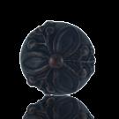 boutons 20mm bruin zwart rond