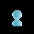 boutons 6mm licht blauw rond glas