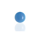 boutons 6mm blauw rond glas