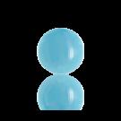 boutons 8mm licht blauw rond glas