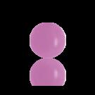 boutons 8mm zacht roze rond glas