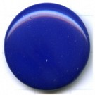 boutons 24mm mooi blauw rond glas