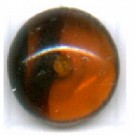 Boutons glas 10mm bruin rond glas