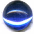boutons 8mm donkerblauw rond gespiegeld glas