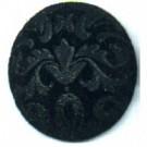 boutons 25mm zwart rond