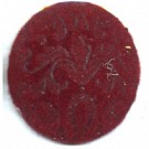 boutons 25mm rood rond
