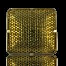 broches 26mm goud vierkant metaal
