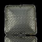 broches 26mm zilver vierkant metaal