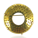 broches ring 36mm goud rond metaal