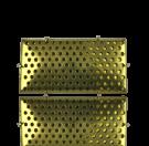 broches 41mm goud rechthoek metaal