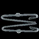 broches 3mm zilver rond metaal