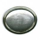 broches 70mm zilver ovaal metaal