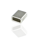 buisjes 10mm zilver rechthoek