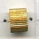 buisjes groef 6mm goud cilinder