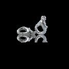 Carabinersluitingen metaal 12mm rhodium