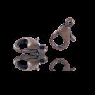 Carabinersluitingen metaal 14mm brons