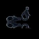Carabinersluitingen metaal 14mm zwart