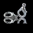 Carabinersluitingen metaal 20mm rhodium