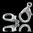 Carabinersluitingen metaal 30mm rhodium