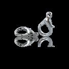 Carabinersluitingen metaal 14mm rhodium