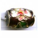 Cloisonne kralen 14mm paars cilinder