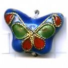 Cloisonne kralen 15mm blauw dier