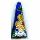 Cloisonne kralen 22mm donkerblauw driehoek