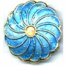 Cloisonne kralen 20mm blauw bloem