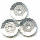 cuvettes 5mm zilver grijs rond kunststof