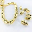 Druppel kunststof kralen 15mm goud
