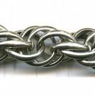 dubbel ankerketting 12mm zilver rond