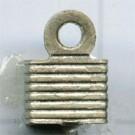 leerklemmen 6mm oudzilver vierkant