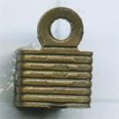 leerklemmen 6mm oudgoud vierkant