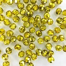 Facet kralen 8mm rond metallic geel